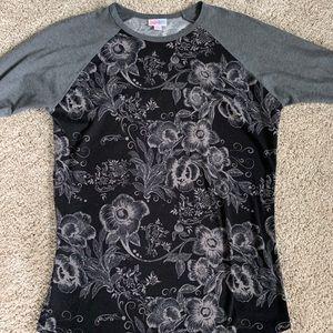 Black and grey floral LuLaRoe Randy